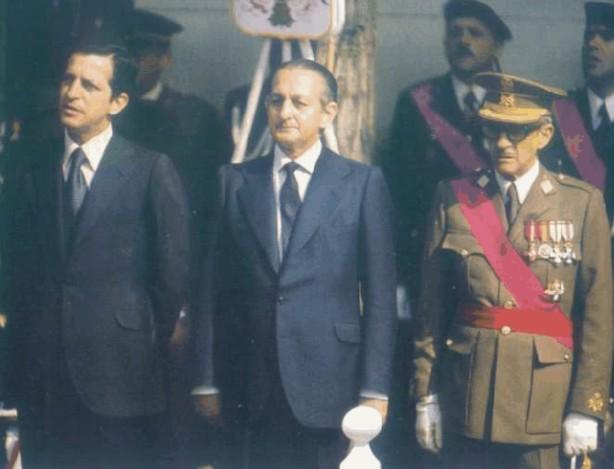 Suárez, junto a Torcuato y Gutierrez Mellado
