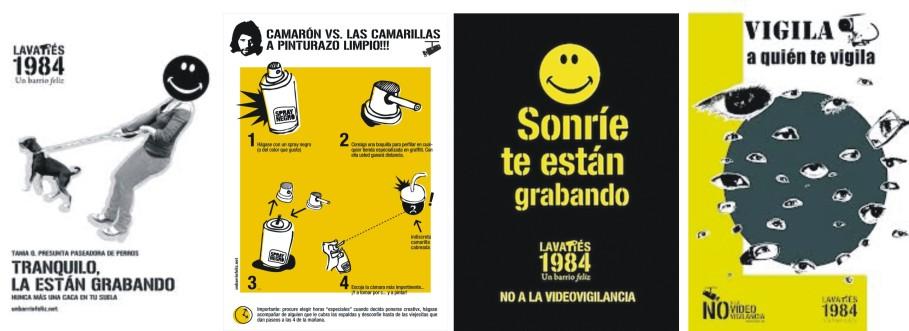 Diversos diseños de carteles de unbarriofeliz